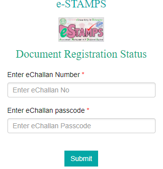 IGRS Telangana e-stamps online registartion