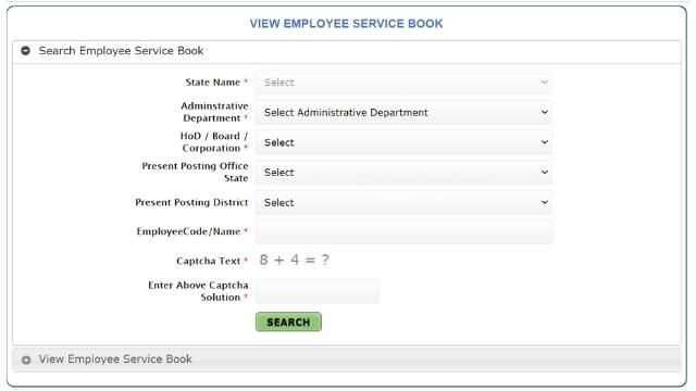 ehrms employee eservice book
