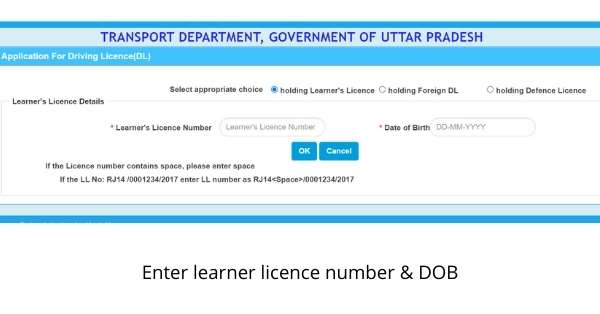Driving licence UP