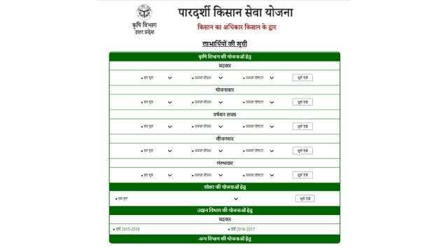 UP Agriculture List